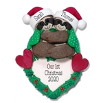 Christmas Sloth Couple  Personalized Christmas Ornament Limited Edition