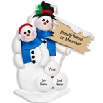 Snowman Family of 2<br>Personalized Family Ornament