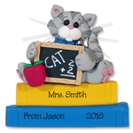 Cat Teacher / School Ornament - Personalized Teacher Ornament Limited Edition