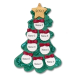 Christmas Tree w/8 Ornaments for a Family of 8 Personalized Ornament