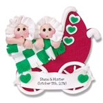 Twins Baby's 1st Christmas Ornament  Limited Edition