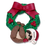 Christmas Sloth Hanging from Wreath Personalized Christmas Ornament Limited Edition