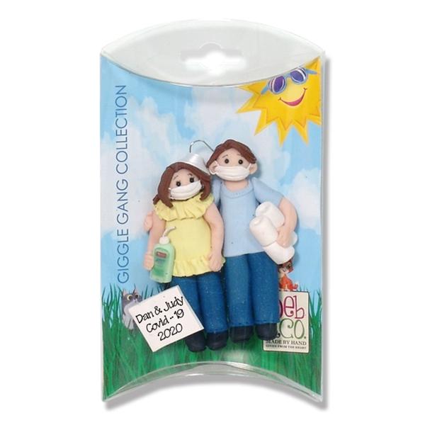 Deb Amp Co Covid 19 Corona Virus Couple Handmade Personalized Christmas Ornament Custom Gift Box
