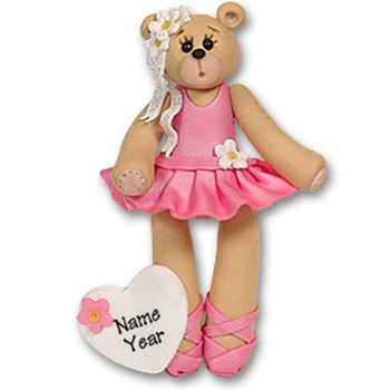 Ballerina Belly Bear Personalized Ballet Ornament