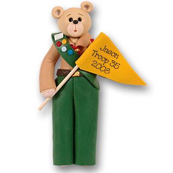 Belly Bear Scout-Boy<br>Personalized Ornament