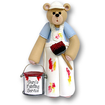 Belly Bear Painter<br>Personalized Ornament