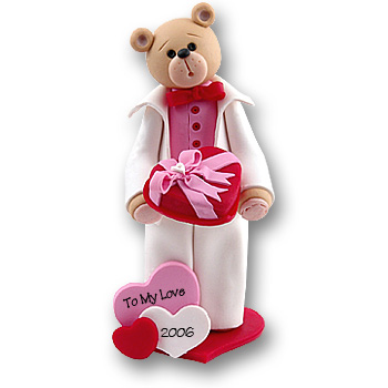 Belly Bear Sweetheart Boy Valentine Figurine