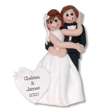 Bride & Groom #3 Personalized Wedding Ornament - Limited Edition