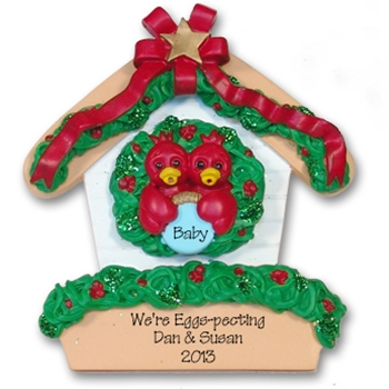 RESIN<br>Rockin' Robin<br>Personalized Family / Couples Ornament