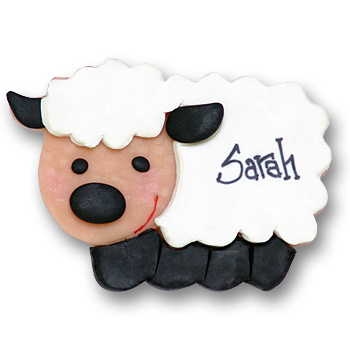 White & Black Sheep<br>Personalized Ornament