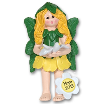 RESIN<br>Hope the Forest Fairy<br>Personalized Ornament