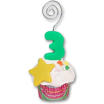 3rd Year Cupcake<br>Photo/Place Card Holder