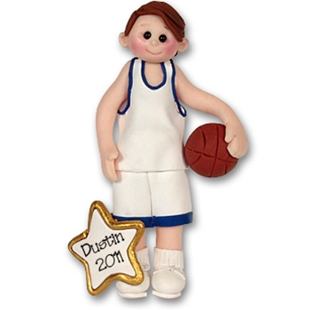 RESIN<br>Basketball Player-Male<br>Personalized Ornament