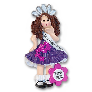 RESIN<br>Beauty Pageant Girl<br>Personalized Ornament