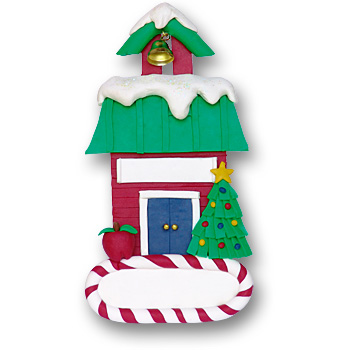 School House<br>Personalized Ornament<br>Teacher's Gift