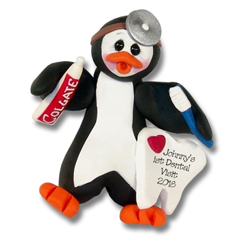 Petey Penguin Dentist / Dental Hygienist Personalized Ornament Limited Edition