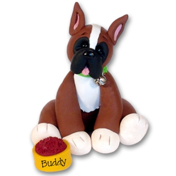 """Buddy"" Boxer<br>Dog Ornament"
