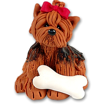 """Nugget"" The Yorkie<br>Dog Ornament"