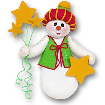 Snowman w/Stars Personalized Christmas Ornament-Limited Edition