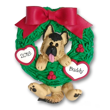 Rottweiler Puppy in Wreath