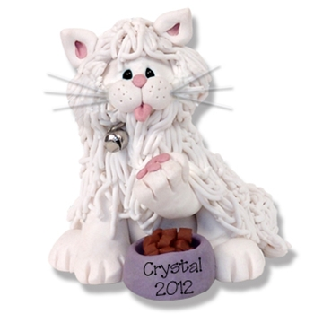 """Crystal"" White Persian Kitty<br>Cat Personalized Ornament"
